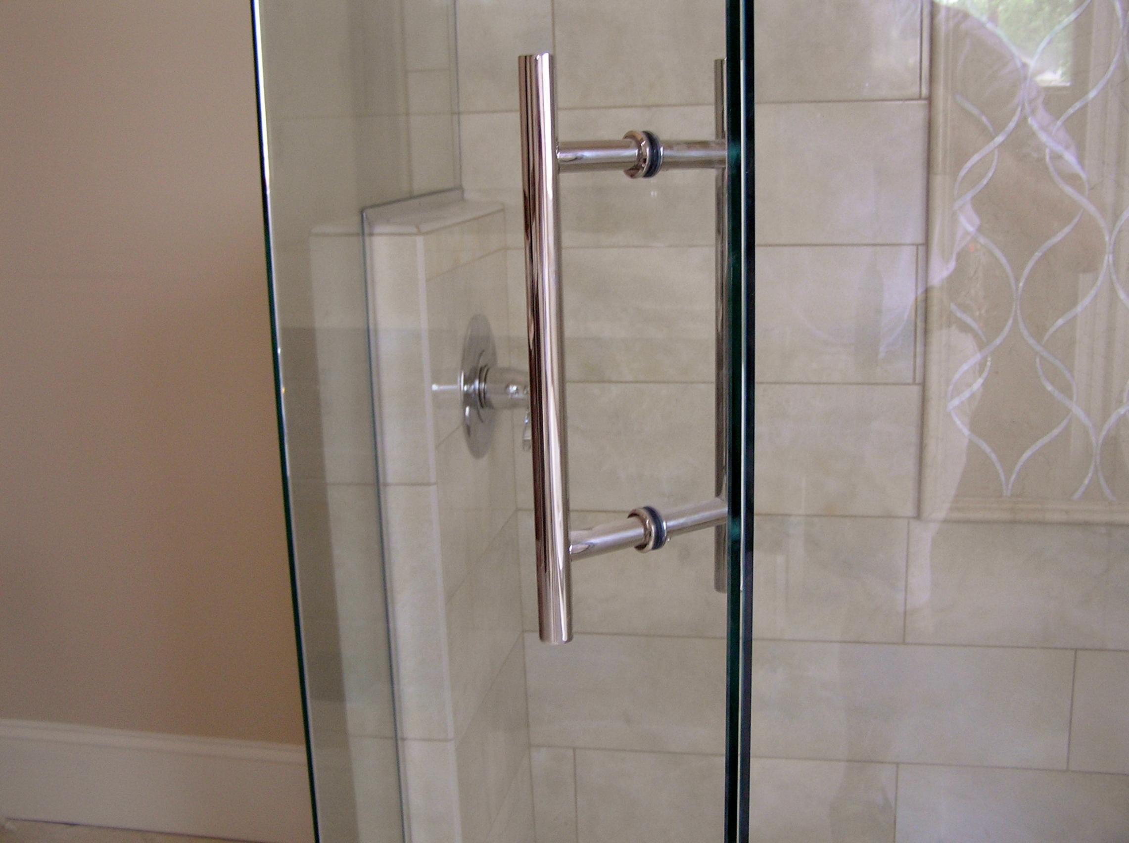 Shower door hardware raleigh shower door handles nc for Commercial bathroom door handle