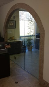 Custom frameless commercial glass door