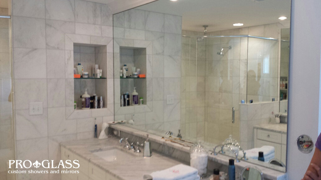 custom showers pro glass. See a sampling of our past custom mirror projects below  Click each image to see it larger and use the arrows scroll through gallery Custom Mirror Gallery Raleigh Company Proglass