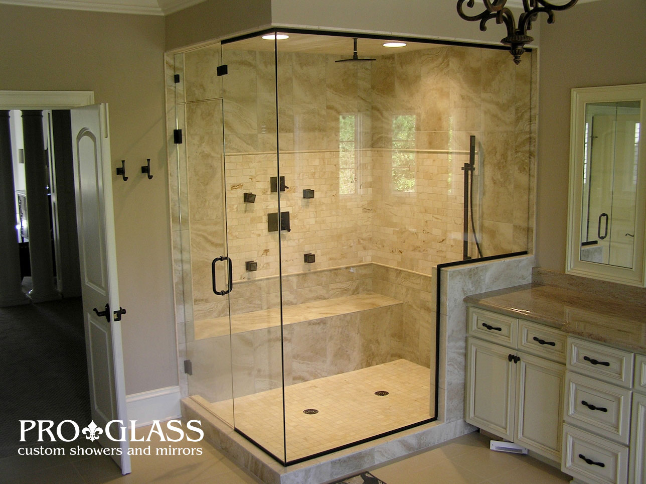 custom showers pro glass. Steam Units Glass Shower Examples Raleigh  Proglass Gallery